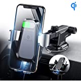 VICSEED Qi Wireless Car Charger, 10W Fast Wireless Charger Car Mount, Auto-Clamping Dashboard & Vent Phone Holder Compatible with iPhone Xs Max Xs Xr 8 8 Plus, Samsung Galaxy Note 9 S9 S9 Plus S8 S8+
