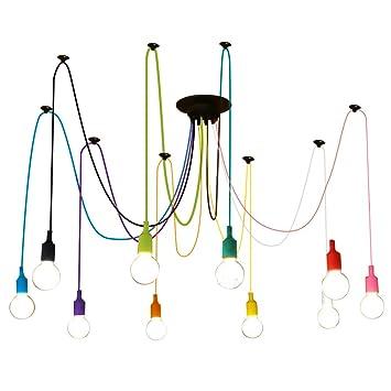 Fuloon E27 Douille Créatif Multi-Branche Eclairage de Plafond ...