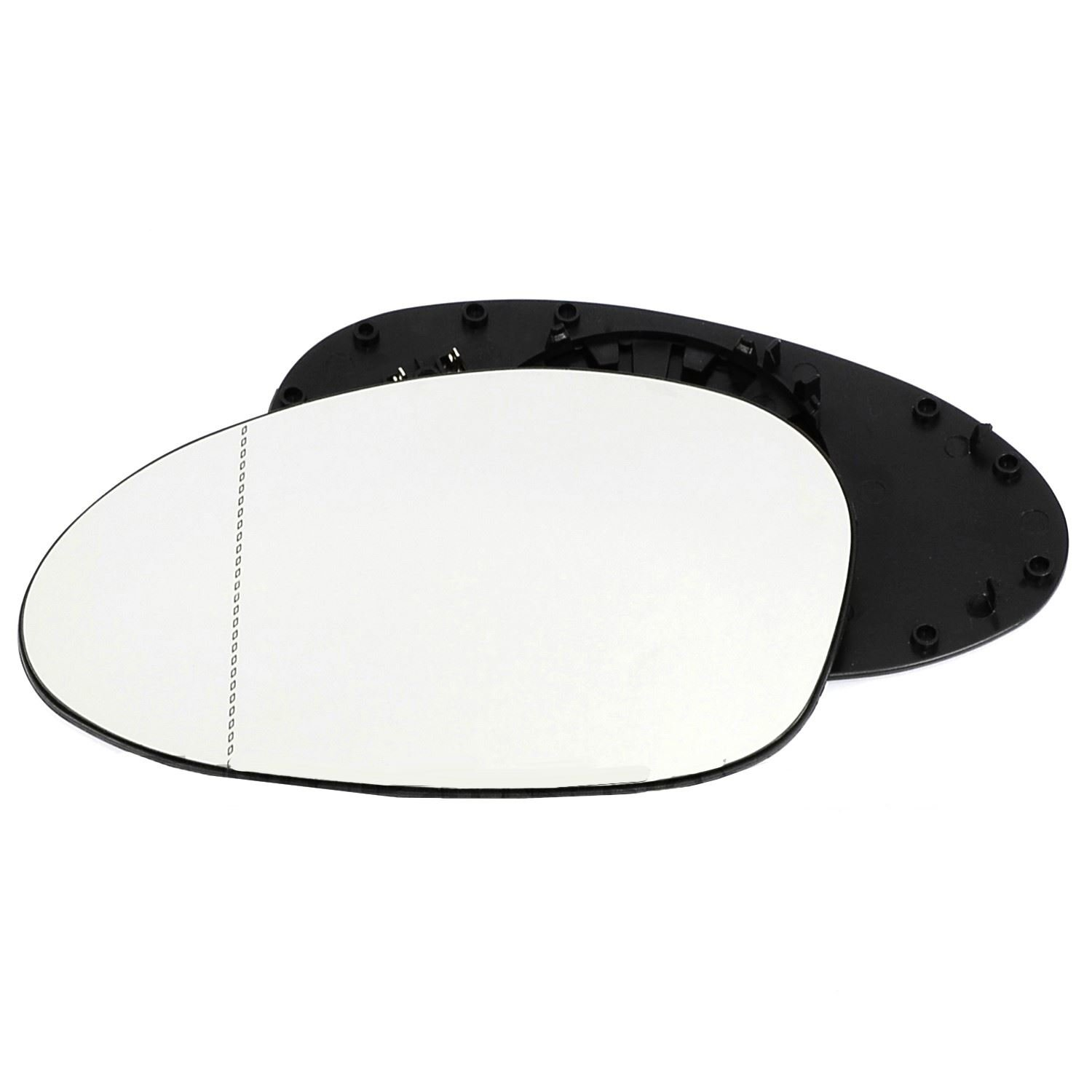 Passenger left hand side Heated wing door Silver mirror glass with backing plate #W-SHY//L-BWZE8502 Clip On