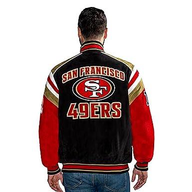 45f7724c Amazon.com: 49ers Suede Leather Jacket NFL San Francisco asst Sizes ...