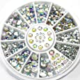 AllRight 300Pcs Ongles Strass Roue 3D Nail Art Décorations 6 Taille Transparent