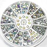 AllRight 300Pcs 6 Taille Faux Diamant Decoration Cristal Strass 3D Nail Art