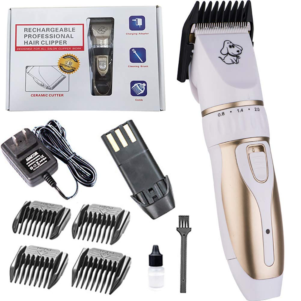 Pet Trimmer Dog Grooming Hair Clipper Low Noise Cordless Pet Grooming Tool Cat Dog Razor Kit,B