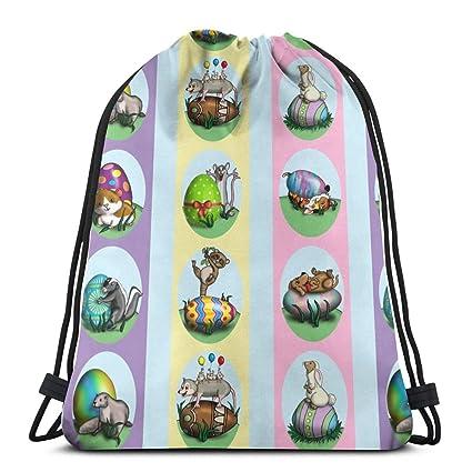 Easter_Eggs_Small_2385 Mochila con cordón Mochila Bolsas de ...