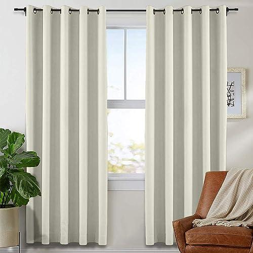TWOPAGES Grommet Curtain Room Darkening Drape Window Curtain Panel