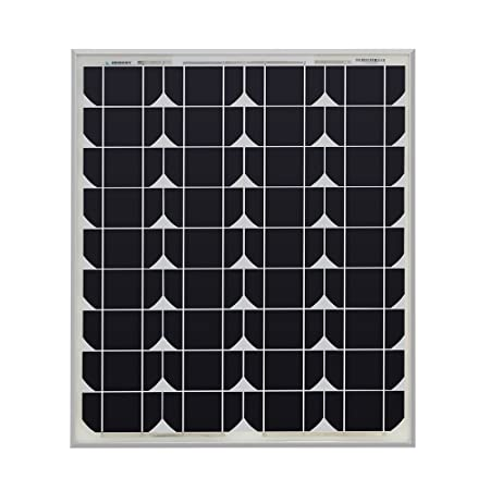 front facing renogy 50 watt 12 volt monocrystalline solar panel