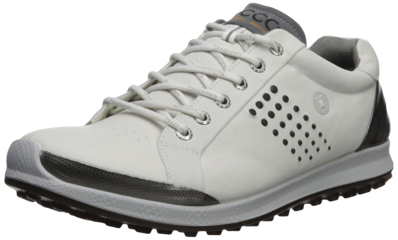 ECCO Men's Biom Hybrid 2 Hydromax Golf Shoe, White/Black, 12 M US by ECCO