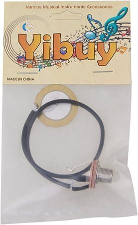 yibuy cuivre transducteur Piezo précâblé Amplificateur Micro Jack 6,35mm avec câble 20cm etfshop Yibuy10