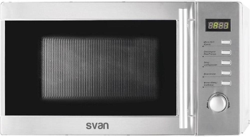Microondas 20 litros, 700 wats, c/ grill, INOX, control digital
