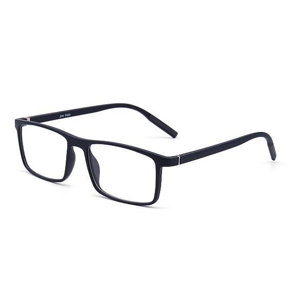 c78548322e Retro Óptica TR Marco Ligero Peso Bisagras de Resorte Lentes Claros Gafas  Anteojos Hombre Mujer(