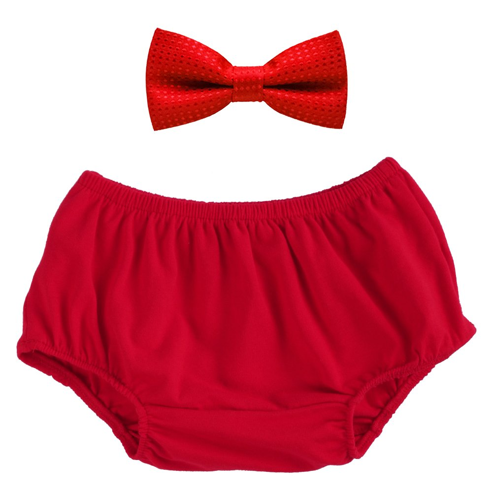 Baby Boys Cake Smash Outfit Bloomers Bowtie Set /Bow Ties - Various Designs Navy IBTOM CASTLE