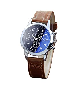 Yeyamei Men's Watches,Luxury Casual Sport Quartz Wristwatches Leather Watches Fashion Classic Dress Business Analog Wrist Watch Gift for Men