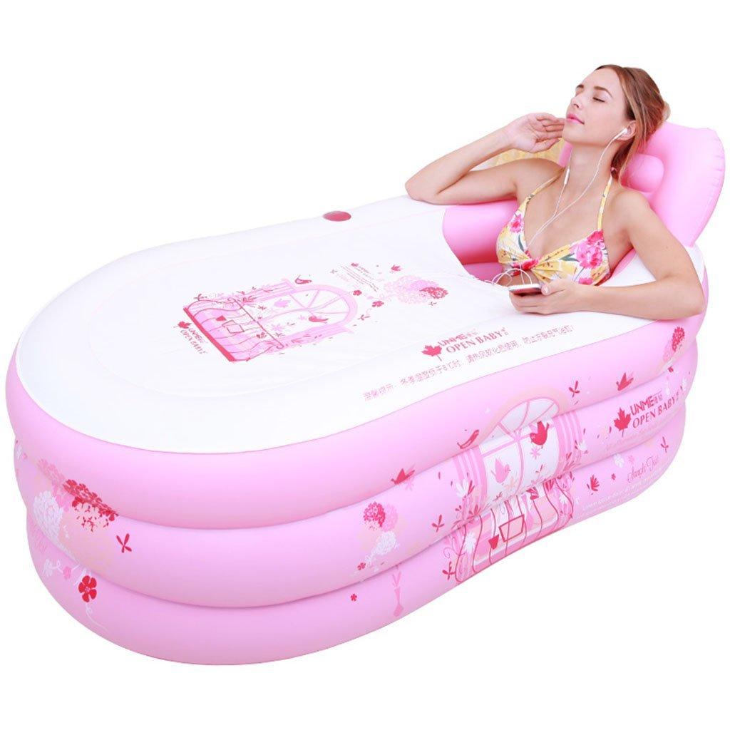 ZDYG Inflatable folding bathtub adult bath tub household thickened bath tub bathroom body bath tub with air pump -130  60  60cm