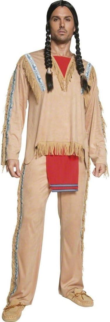 Traje de indio apache disfraz jefe tribu vestuario: Amazon.es ...