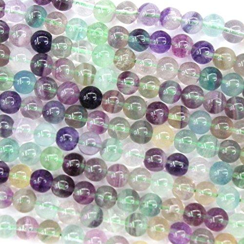 Natural Fluorite Round Findings Jewerlry Making Gemstone Beads (6mm)