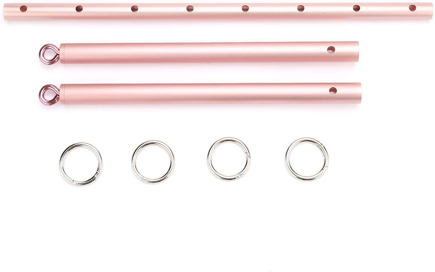 Frosted Rose Golden Exercise Spreader Bar Expandable Sports Aid Training Kit for Home Gyms Yoga