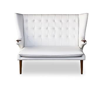 Amazon De Elegantes Highback Lounge Love Seat Sofa Walnuss Leder
