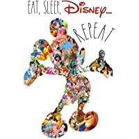 Image for EAT, SLEEP, DISNEY ... REPEAT: Dot Grid Journal, 110 Pages, 6X9 inch, Magical and Fun Quote on White matte cover, dotted notebook, bullet journaling, ... family (Mouse House Amusement Notebooks)