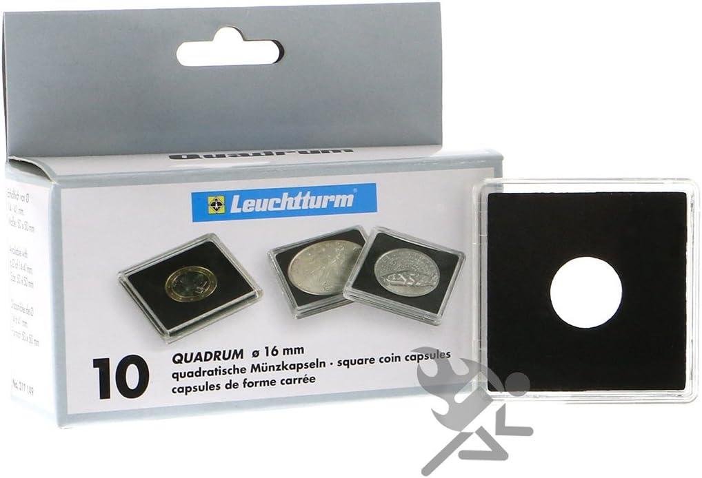6 Pack Lighthouse 40mm Quadrum Intercept Square Snaplock Coin Holders