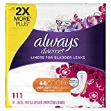 Always Discreet, Incontinence Liners, Very Light, Long Length, 111 Count