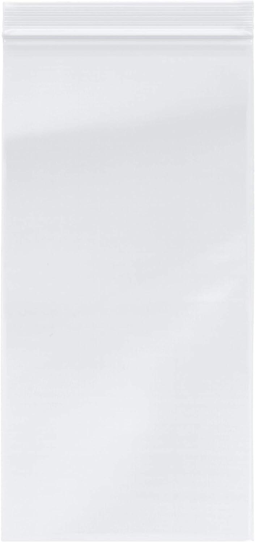 Plymor Zipper Reclosable Plastic Bags, 2 Mil, 6