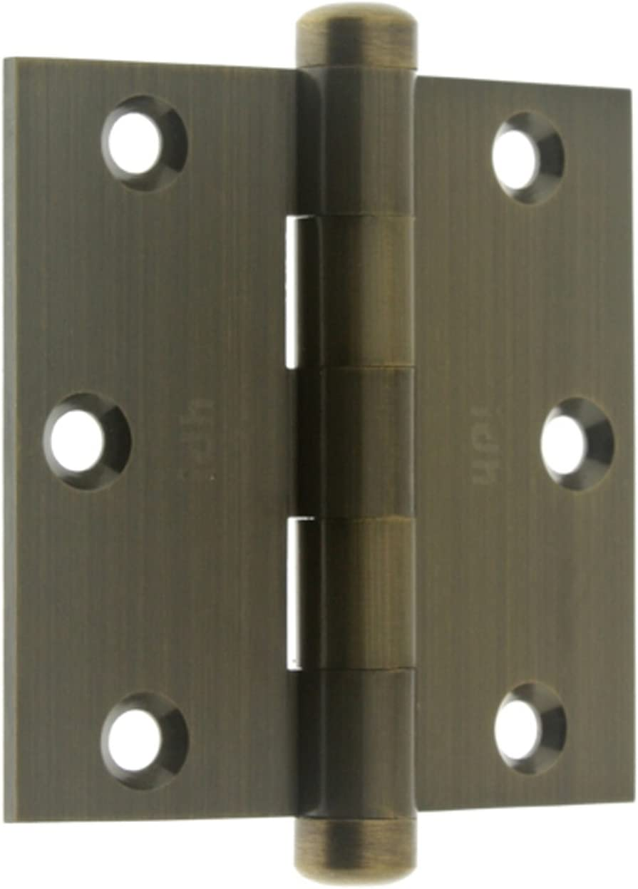 4 x 4-Inch Pair IDHBA 84040-10B Professional Grade Quality Solid Brass 4 x 4 Full Mortise Door Hinges Oil-Rubbed Bronze