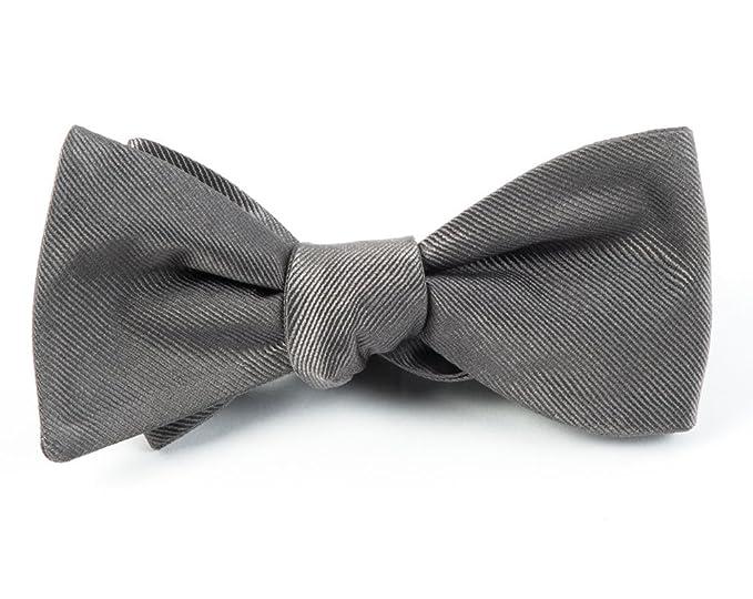 0573251d8ecb2 The Tie Bar GrosGrain Solid 100% Woven Silk Titanium Self-Tie Bow ...