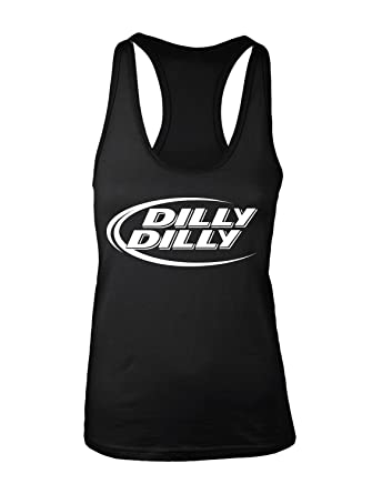 682744f8497df Manateez Women s Budlight Dilly Dilly Commercial Racer Back Tank Top Small  Black