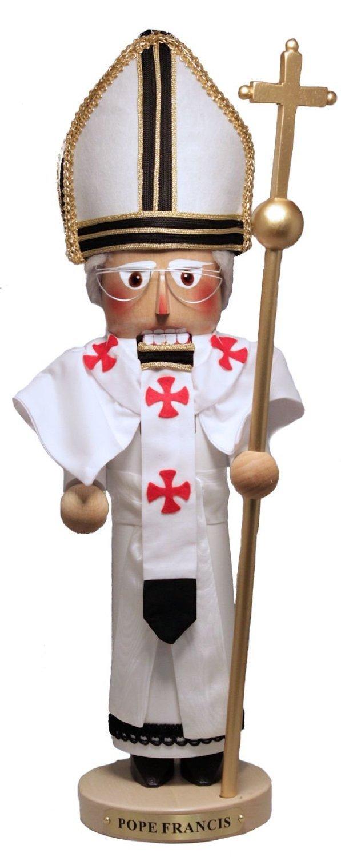 Kurt Adler Steinbach Pope Francis Nutcracker, 19-Inch
