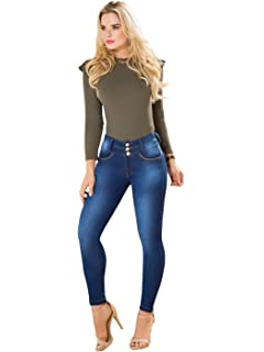2222406aa8ffc Rose Distressed Butt Lifting Ripped Colombian Jeans Levanta Cola by Draxy