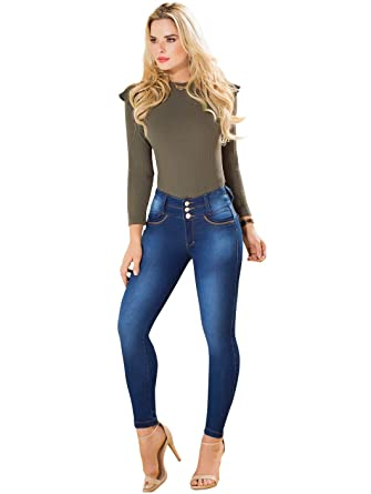a7648827038 Rose Women Skinny Butt High Waisted Jeans Pantalones Colombianos Levanta  Cola