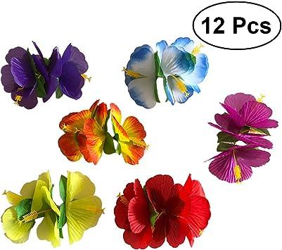 6 COLORI 4 NUOVO Ibisco Fiore Per Capelli Clip