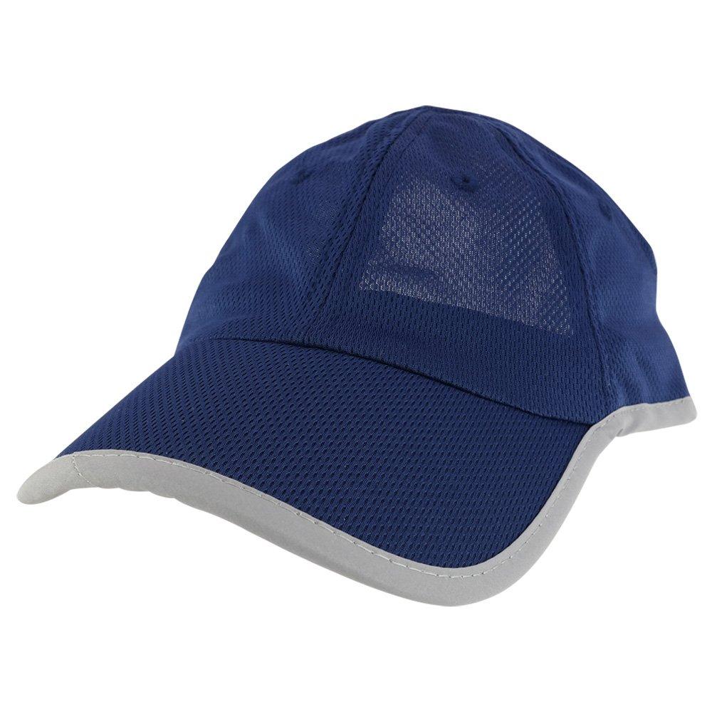 Trendy Apparel Shop Rayon Mesh Athletic Leisure Visor Cap With Reflective Trim