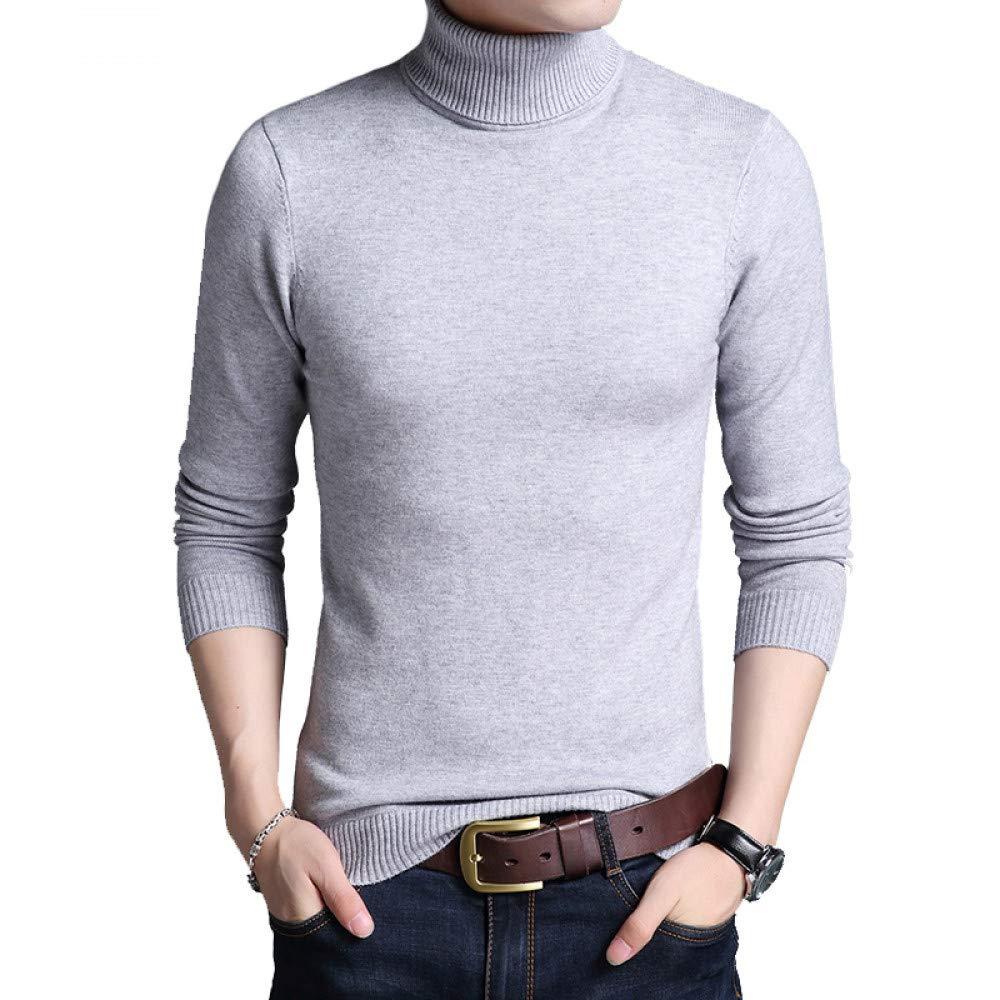 FEIDAO Männer Pullover Winter Warme Pullover Männer Solide Rollkragen Casual Pullover Männer Slim Fit Männer Kleidung