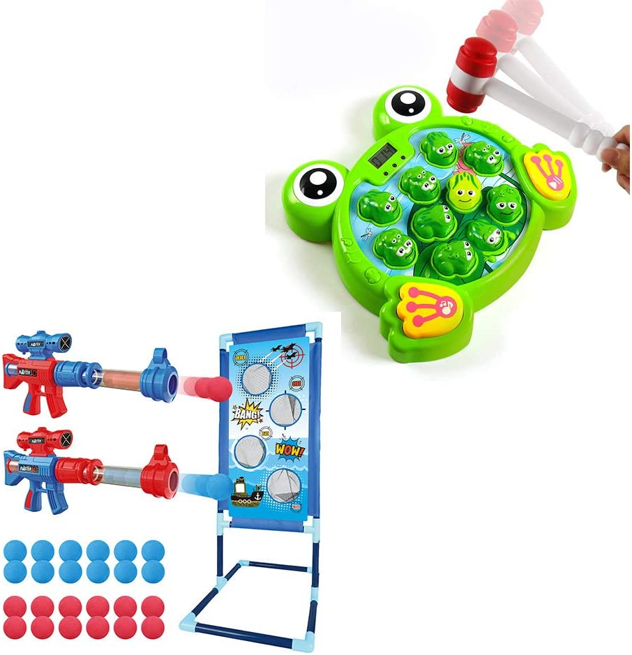 YEEBAY Interactive Whack A Frog Game for Age 2,3, 4 & Shooting Game Toy for Age 5, 6, 7, 8,9,10+ Years Old Kids, Boys, Girls