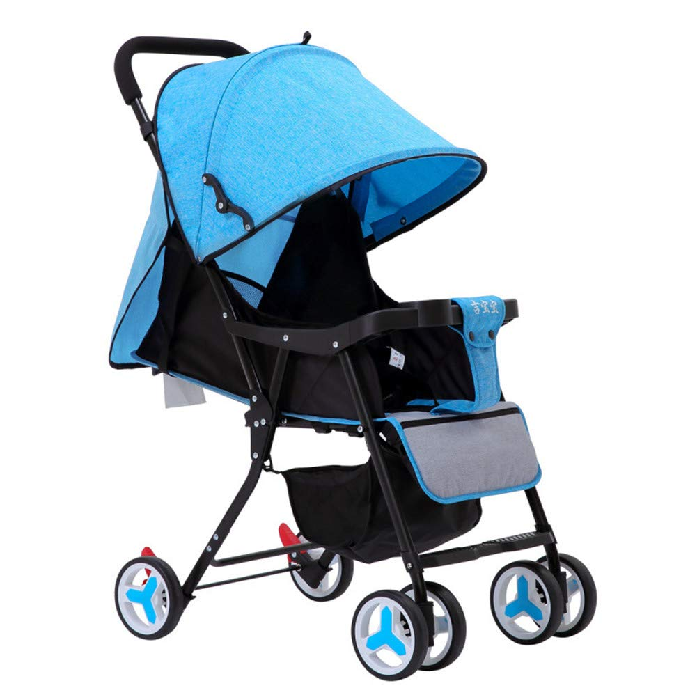 bluee Baby Stroller, Portable Light Weight Travel Pram, Water Resistant Umbrella Canopy for Infant Toddler, Boys, Girls Unisex 1-3 Year,Red