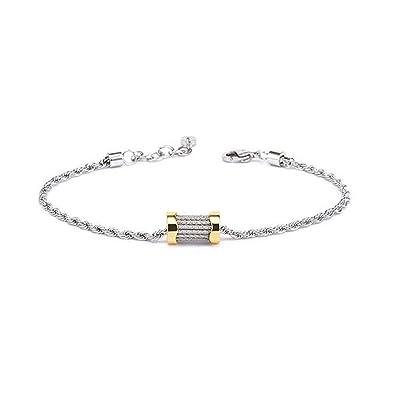 b8f5a4cd936 Amazon.com: Charriol Bracelet Forever Waves Charms - 06-104-1139-15: Jewelry
