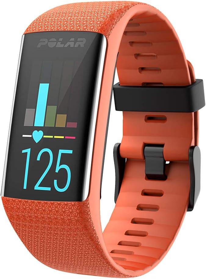 WIIKAI Compatible con Polar A3060/A370 Correas para Relojes, Correa de Pulsera de Reemplazo(Naranja).: Amazon.es: Deportes y aire libre