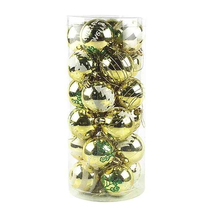 Amazon.com: Tinffy - Juego de 24 bolas decorativas para ...