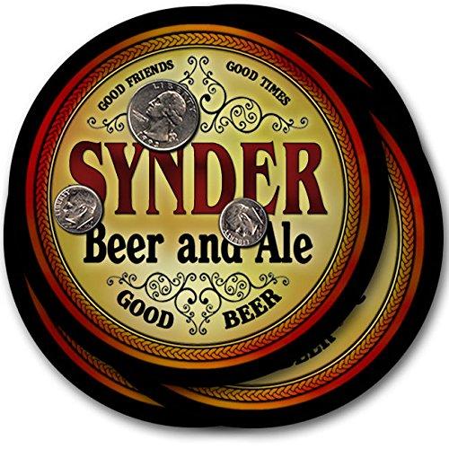 Synderビール& Ale – 4パックドリンクコースター   B003QX92QG