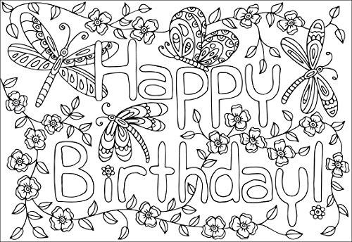 12 Biglietti Di Auguri Di Compleanno E Occasioni Da Colorare Get