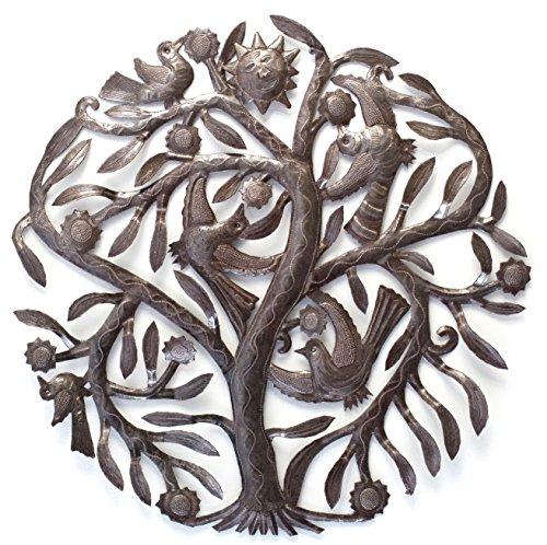 Metal Tree, Sculpture Handmade in Haiti from Recycled Oil Drum 23