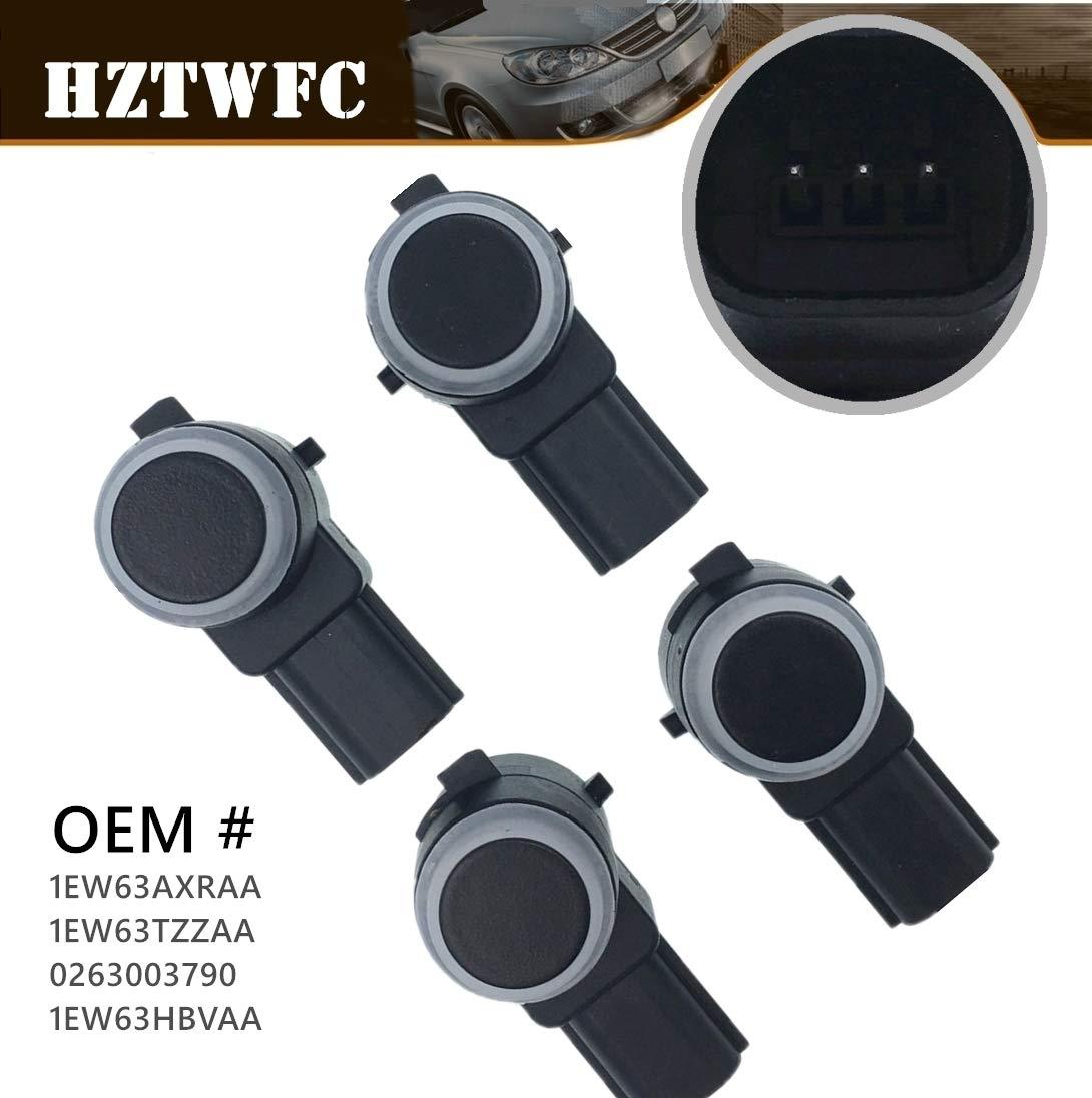 HZTWFC 4 PCS Parking Assist Sensor Bumper Object Sensor Reverse Backup Parking Sensor Compatible for Dodge Chrysler Jeep Vehicles OEM# 1EW63AXRAA 1EW63TZZAA 0263003790 1EW63HBVAA