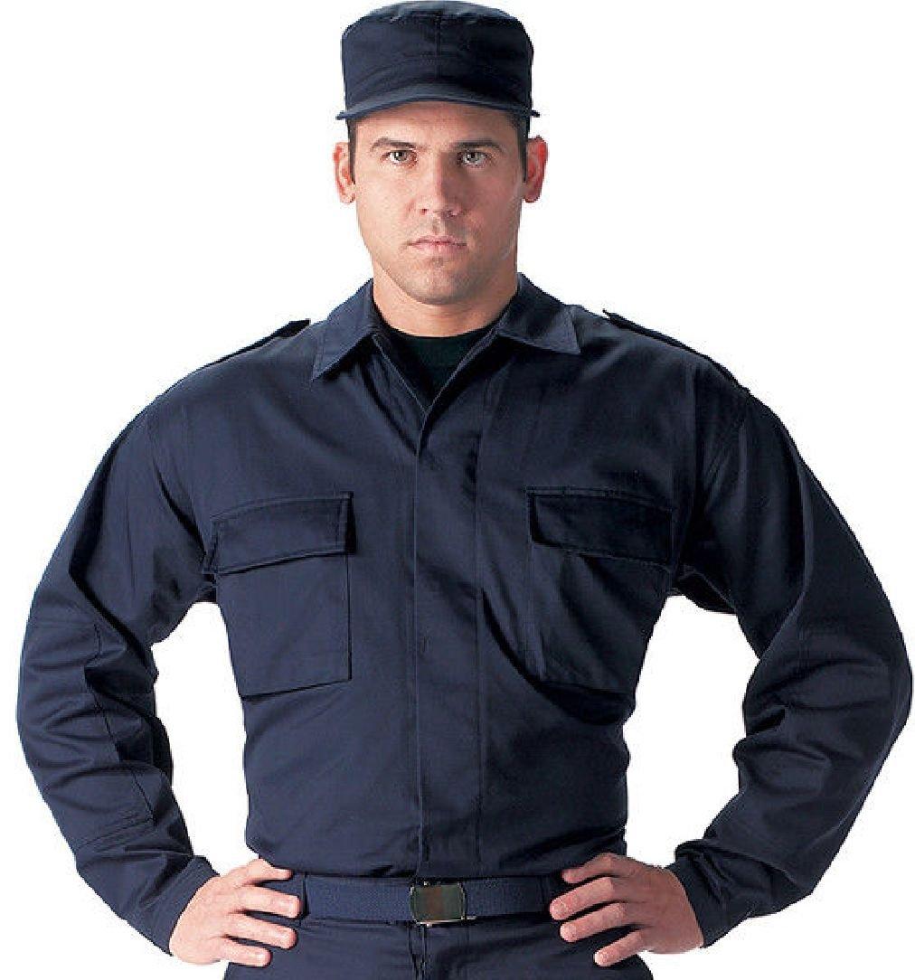 Military 2 Pocket BDU Uniform Fatigue Shirt Solid Army Coat Jacket