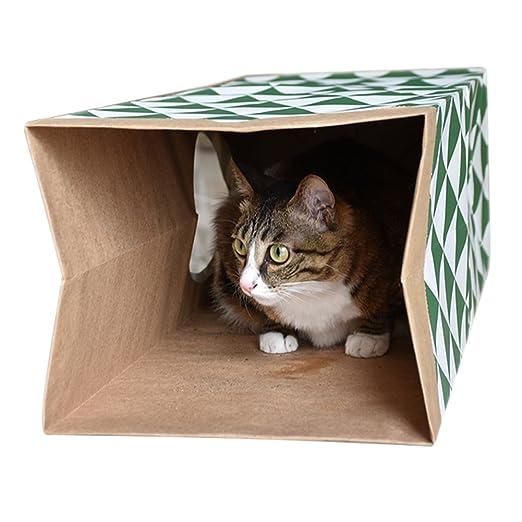 Juguete de túnel para gatos, papel kraft, tubo plegable para gatito, juguetes para mascotas, cachorro, gatito, correr, carretera, casa para perros pequeños, ...