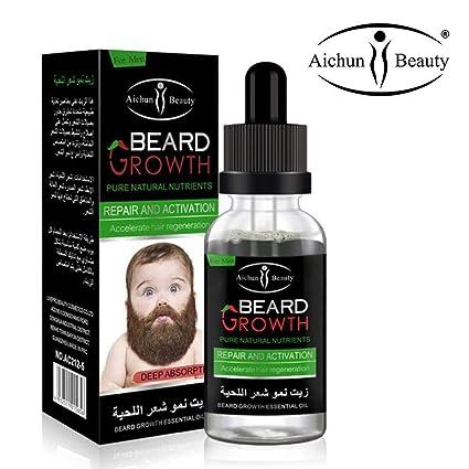 AICHUN BEAUTY Beard Oil Mustache Hair Growth Pure Natural
