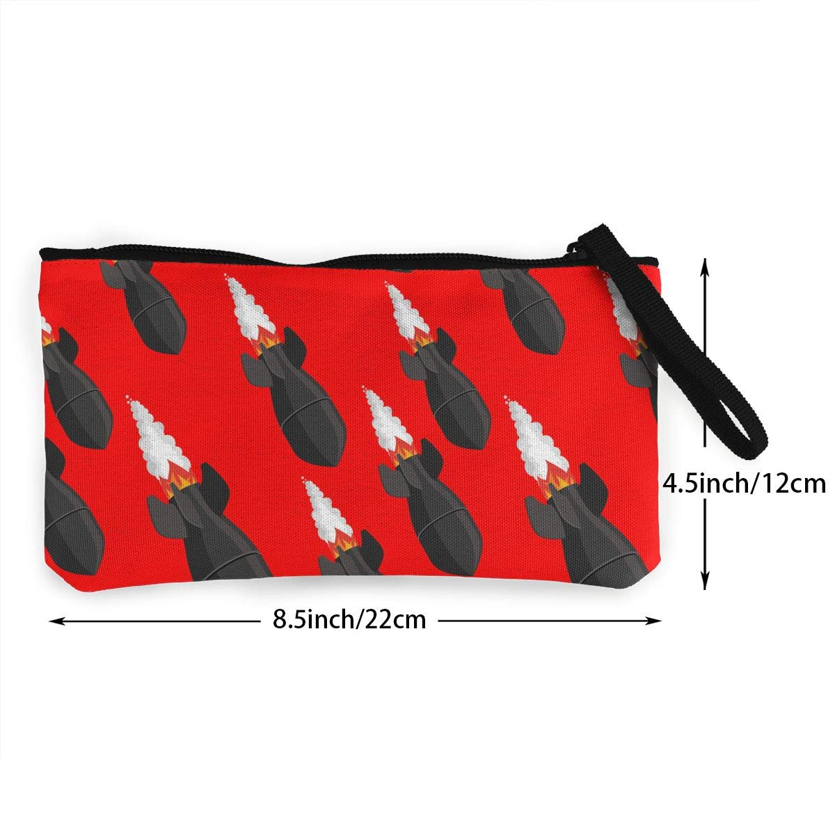 Fighting Rocket Pattern Canvas Makeup Bag with Zipper for Women Bk55Oi/&/& Womens Vintage Purse