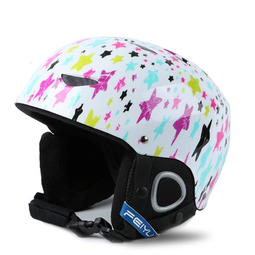 スキー用ヘルメット 新しいワンピースハイエンドキッズスキーヘルメットエクストリームスポーツ保護具のベニヤダブルプレート暖かい風の雪のヘルメット子供 B07PLZ4YZK Medium|White White Medium