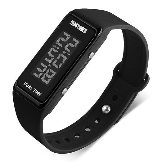 gets Hombres LED Reloj Fashion Sport reloj Digital impermeable Unisex pulsera electrónica relojes de pulsera.: Amazon.es: Relojes