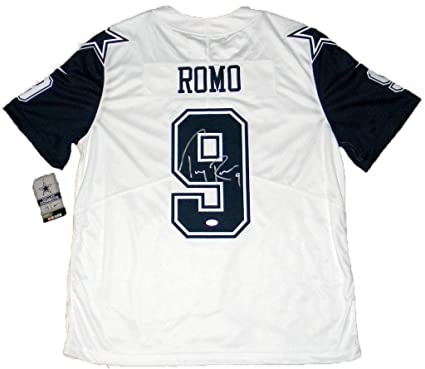 best website c0b64 0309a Autographed Tony Romo Jersey - Nike Limited Color Rush - JSA ...